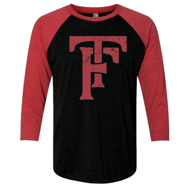 Tyler Farr Vintage Black and Red Raglan Tee