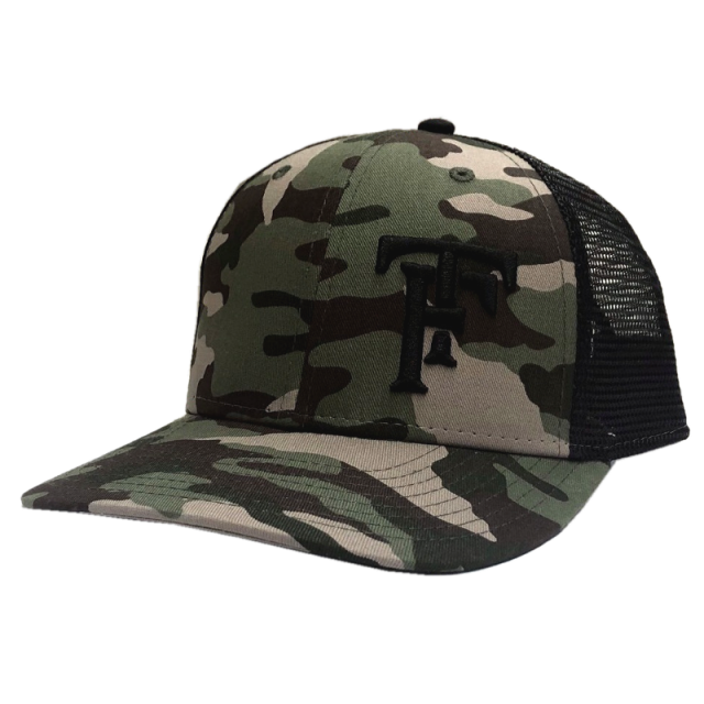 Tyler Farr Camo and Black Ballcap