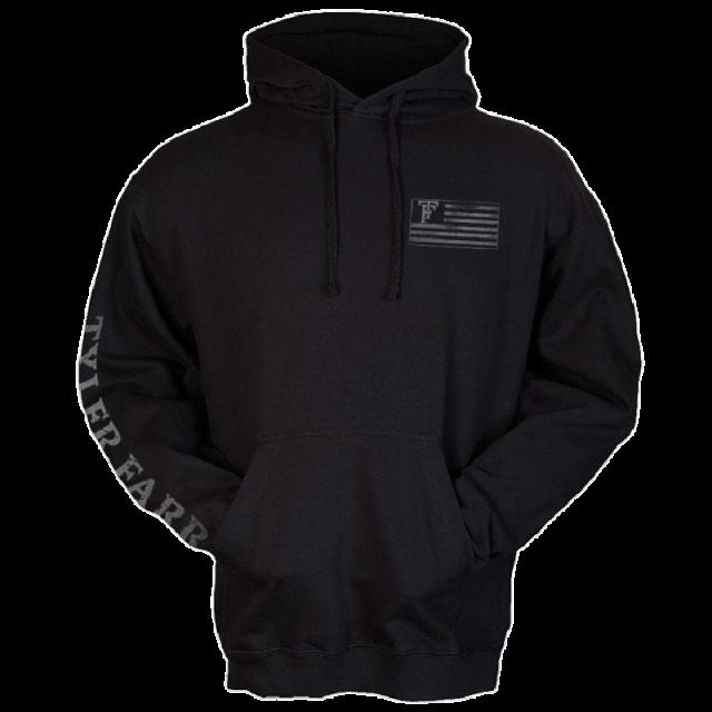 Tyler Farr Black Pullover Flag Hoodie